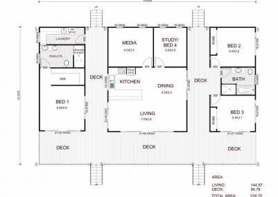 The Retreat Kit Home Home Design Floor Plans Australian House Plans Dog Trot House Plans