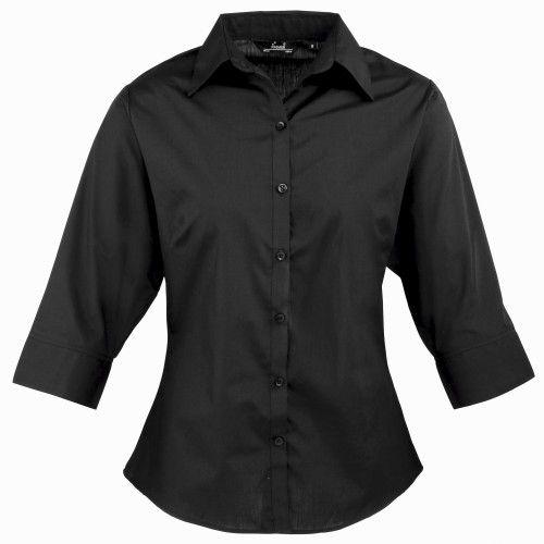 Premier Workwear Womens Signature Oxford Long Sleeve Shirt