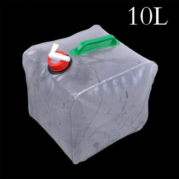 Foldable plastic large water bag 10l 26gal collapsible