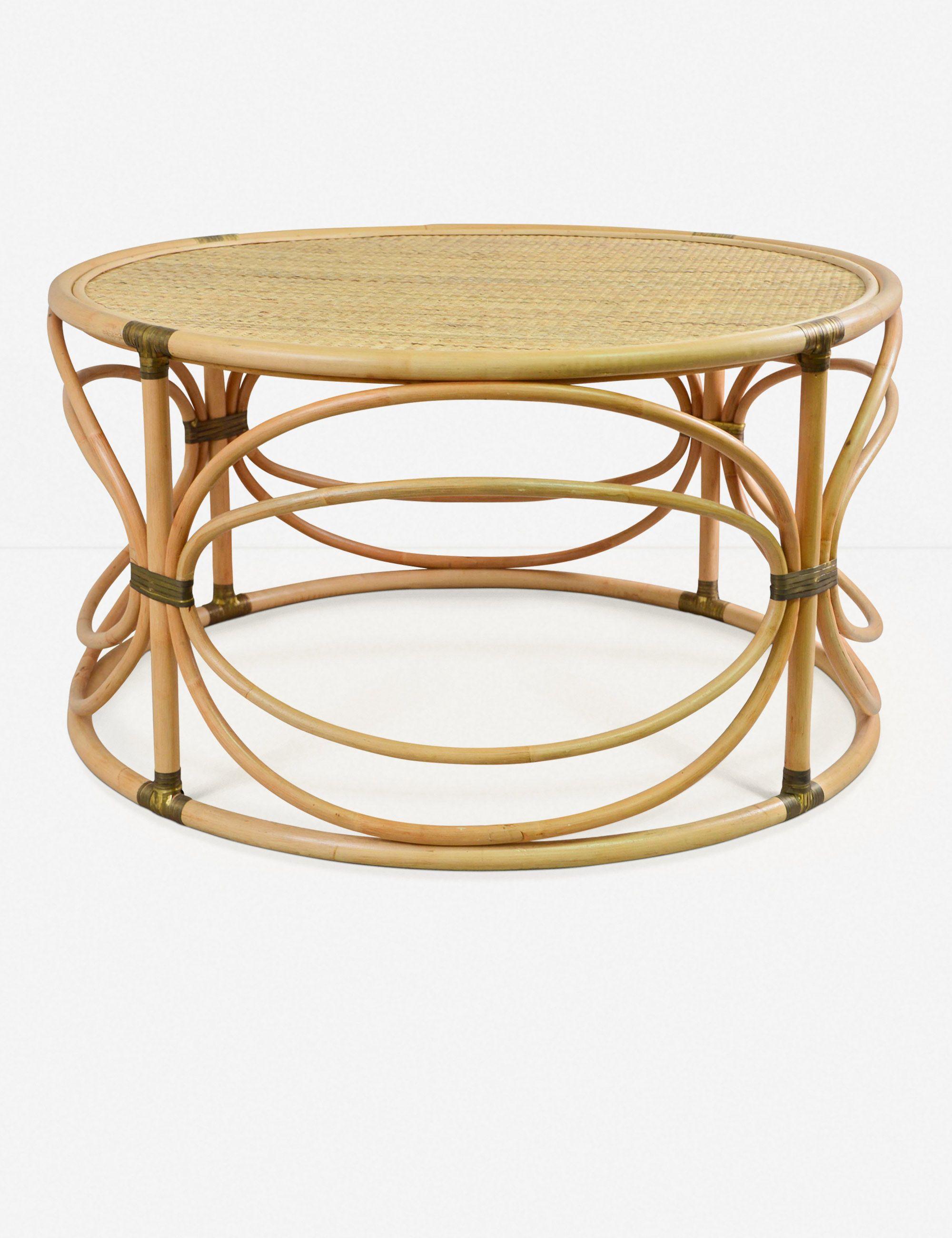 Corrine Round Coffee Table Coffee Table Coffee Table Wood Rattan Coffee Table [ 2600 x 2000 Pixel ]