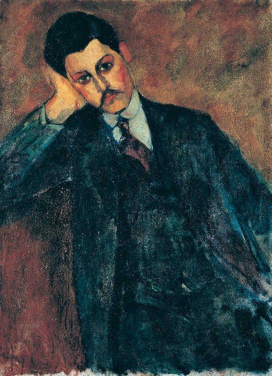 Amedeo Modigliani Ritratto di Jean Alexandre (recto), 1909 Olio su tela, 81 x 60 cm Collezione privata