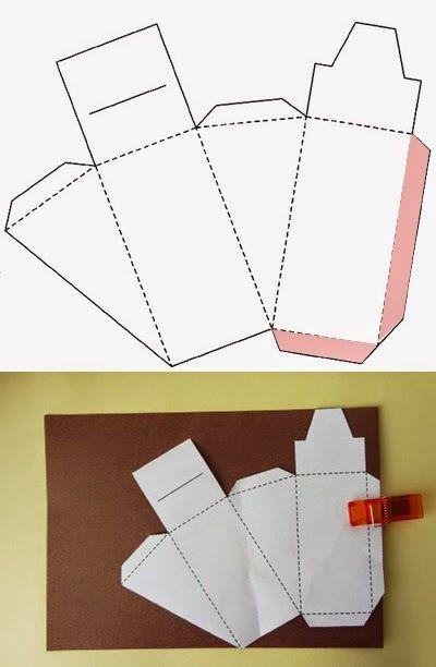 Haz una caja de regalo en forma de pastel - Como hacer cajas de cartulina ...