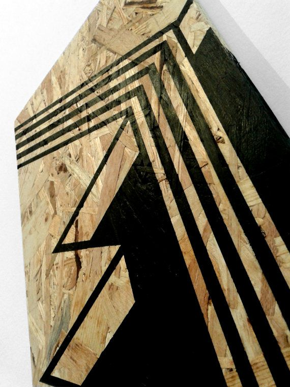 waterfall acrylic painting on board osb art wood wall by osblove design pinterest wood. Black Bedroom Furniture Sets. Home Design Ideas
