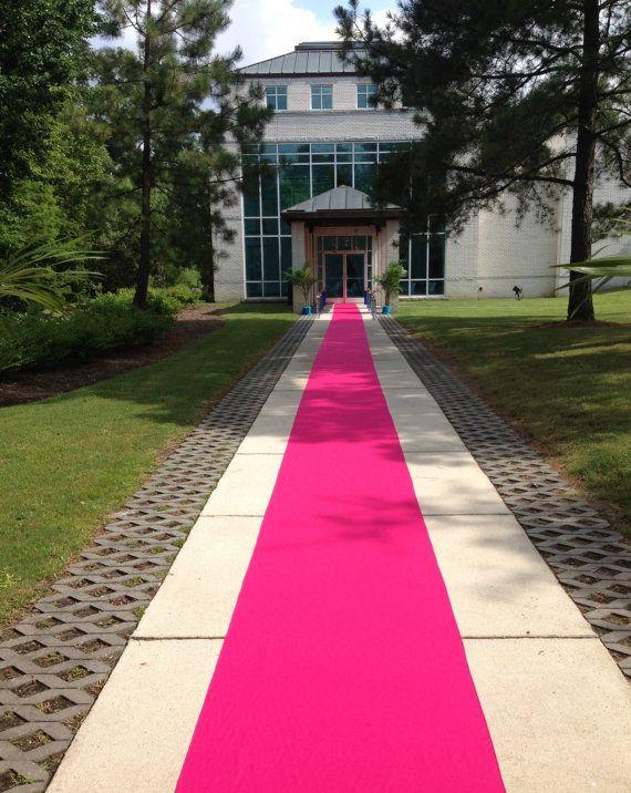 Hot Pink Custom Made Aisle Runner 25 Feet Long 36 Inches Wide Aisle Runner Hot Pink Weddings Pink Carpet