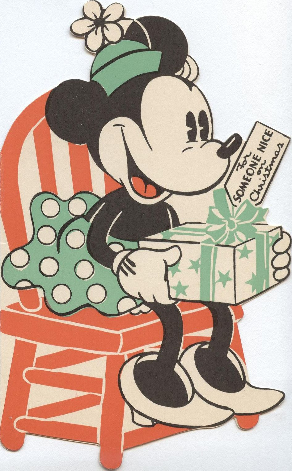 Minnie Mouse Christmas card | Vintage Christmas cards ...