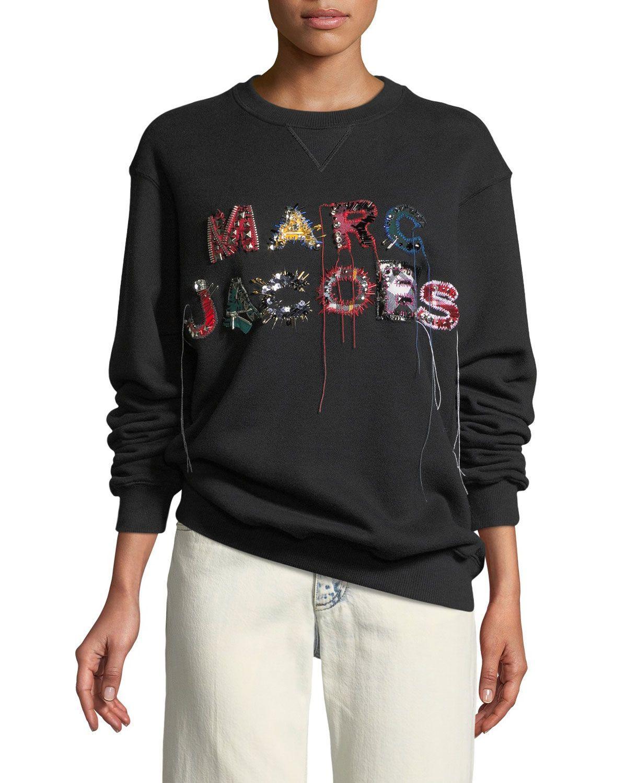 Marc Jacobs Embellished Logo Crewneck Sweatshirt and