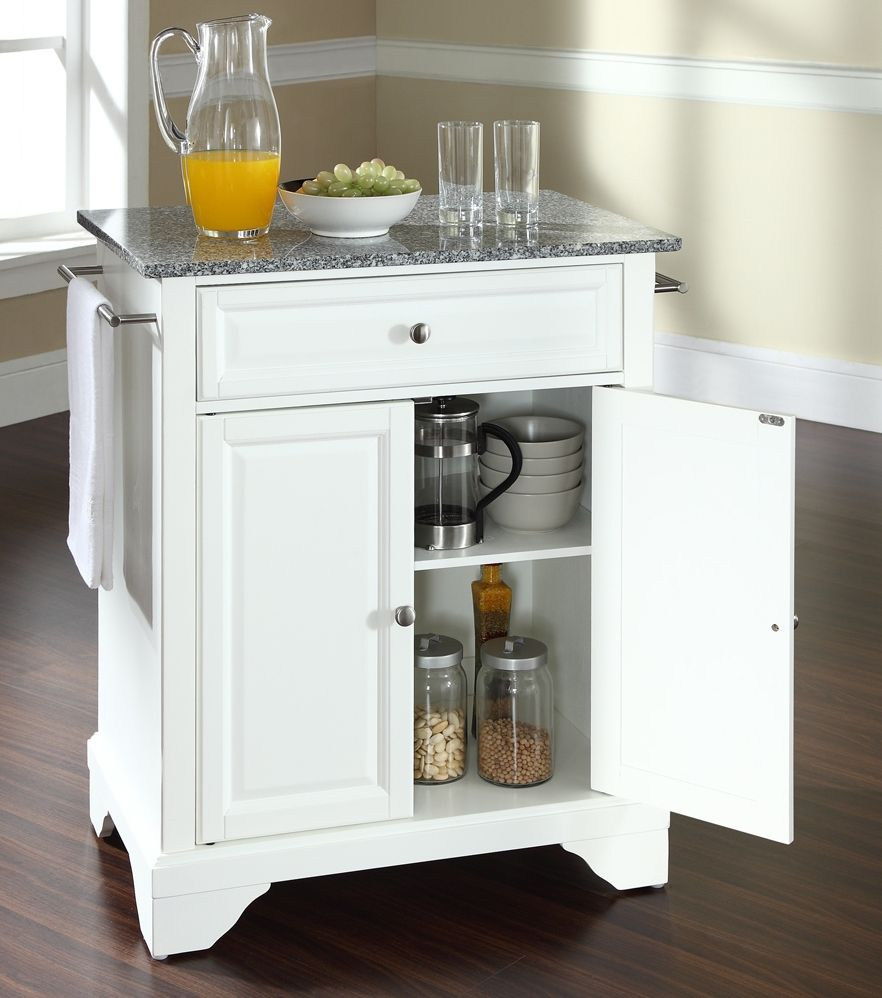 buy lafayette solid granite top portable kitchen island bracket feet ...
