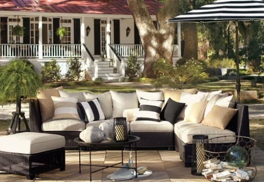 Love Love White Patio Furniture Indoor Outdoor Pillows Outdoor Spaces