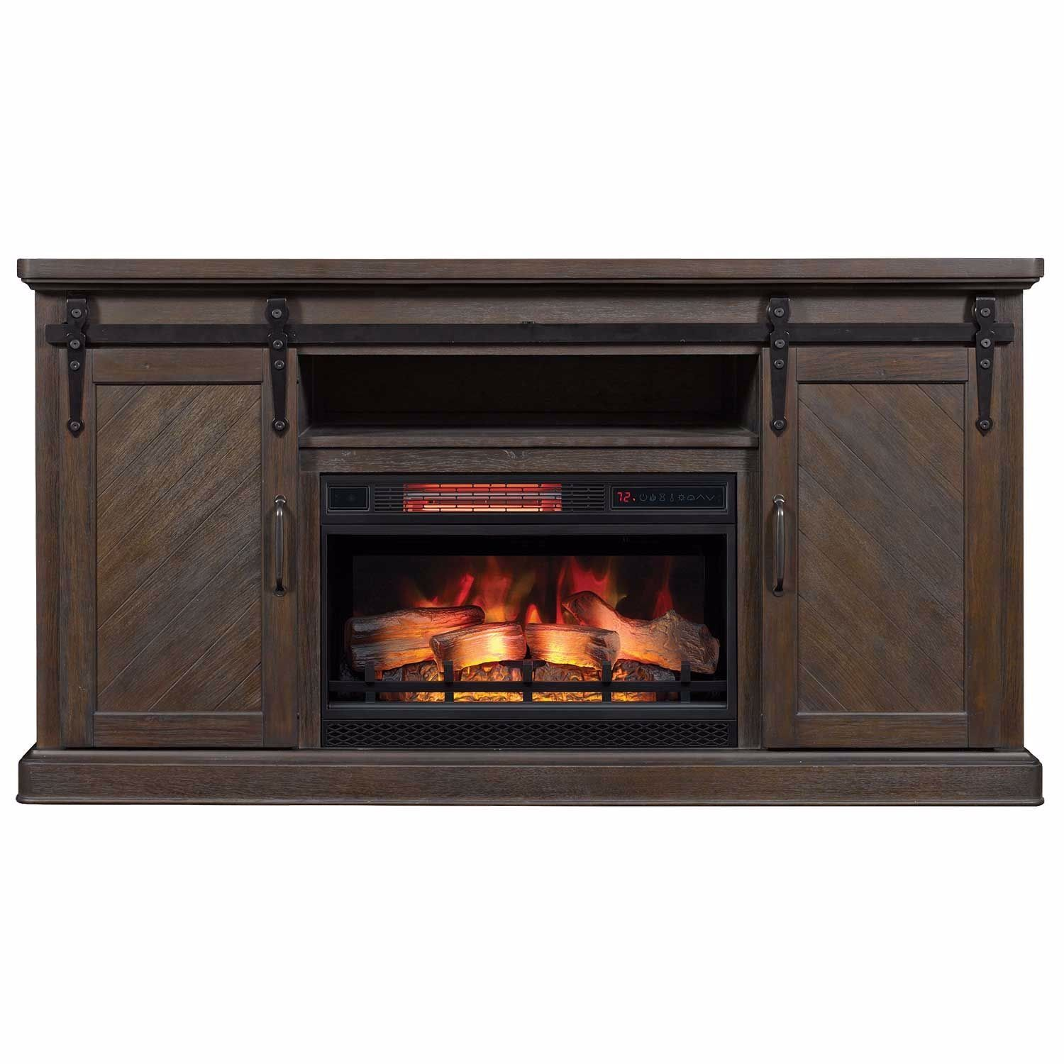 Southgate Media Fireplace in Coffee Finish