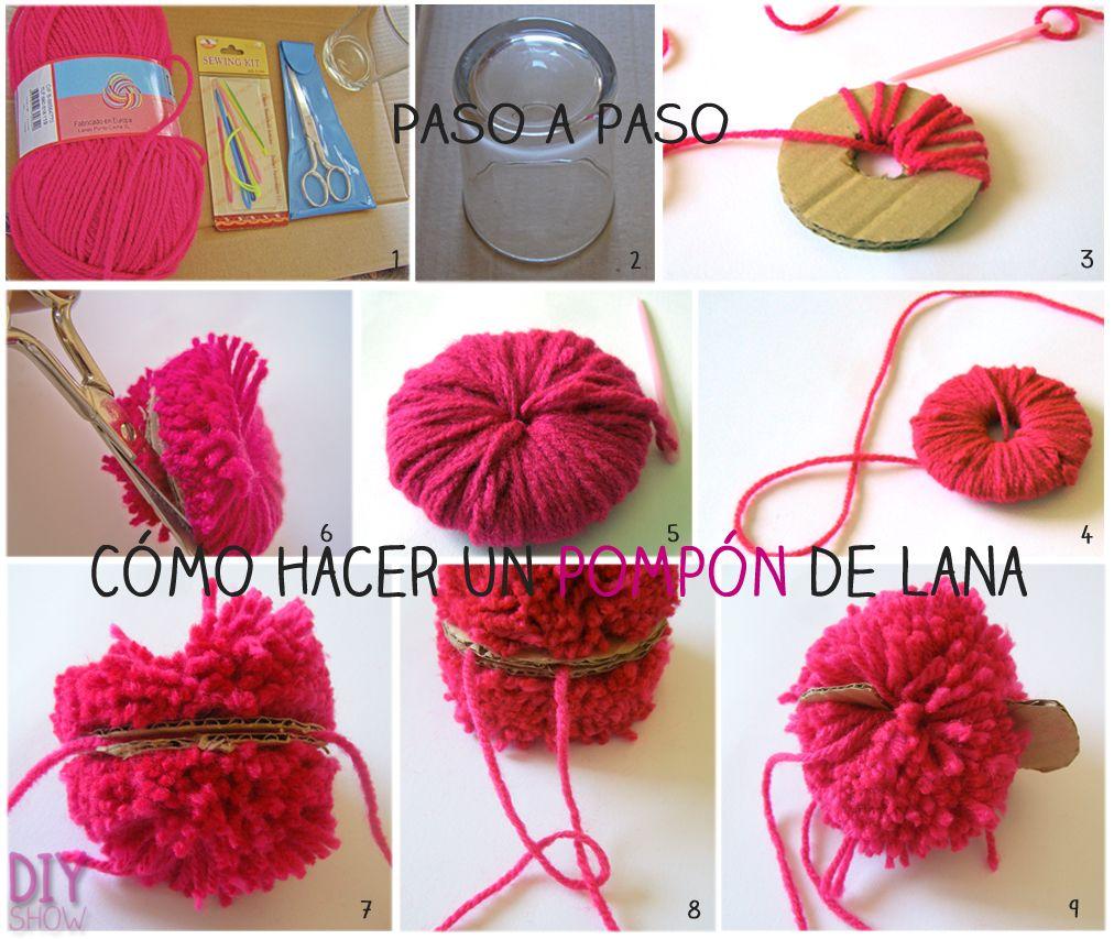 C mo hacer pompones de lana - Manualidades con pompones ...