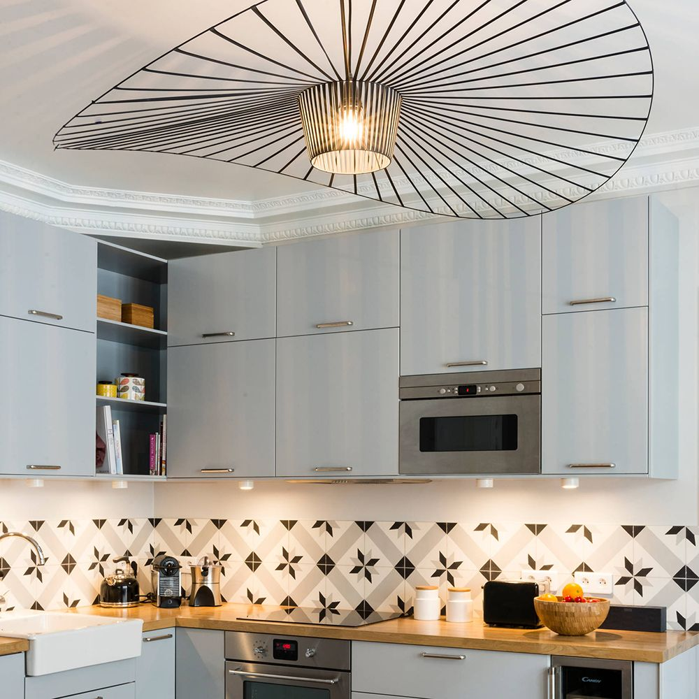 Black Metal Structure Extra Light Friture Vertigo Pendant Lamp Creative Hat  Personality For Restaurant Bedroom Living