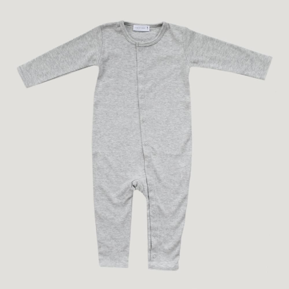 Pima cotton onepiece light grey marle instore tinypeople