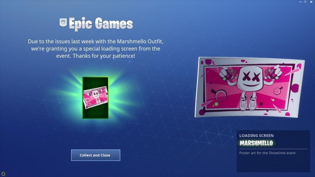 Fortnite Marshmello skin owners are getting free loading