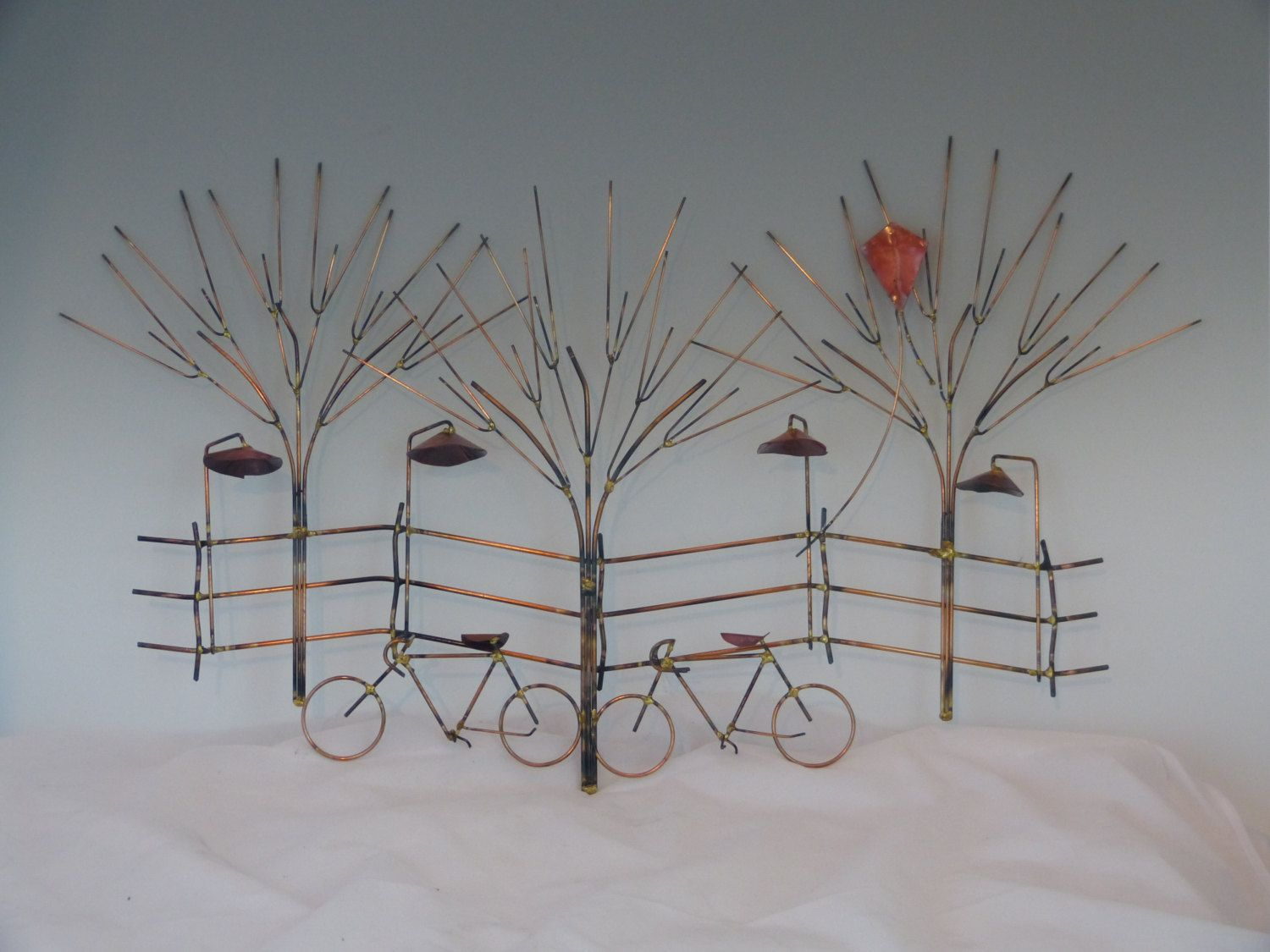 Bikes and trees metal sculpturebike wall by donpoffsculptures bikes and trees metal sculpturebike wall decormetal sculpturemetal art home amipublicfo Choice Image
