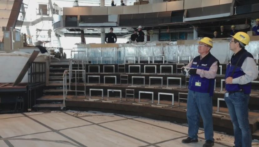 Quantum of the Seas' Two70. Photo from August 25 2014 Royal Caribbean reveal.