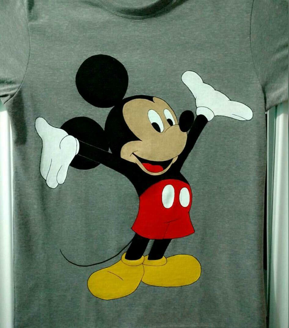 Camisa customizada feita a mão #Mickey Mouse