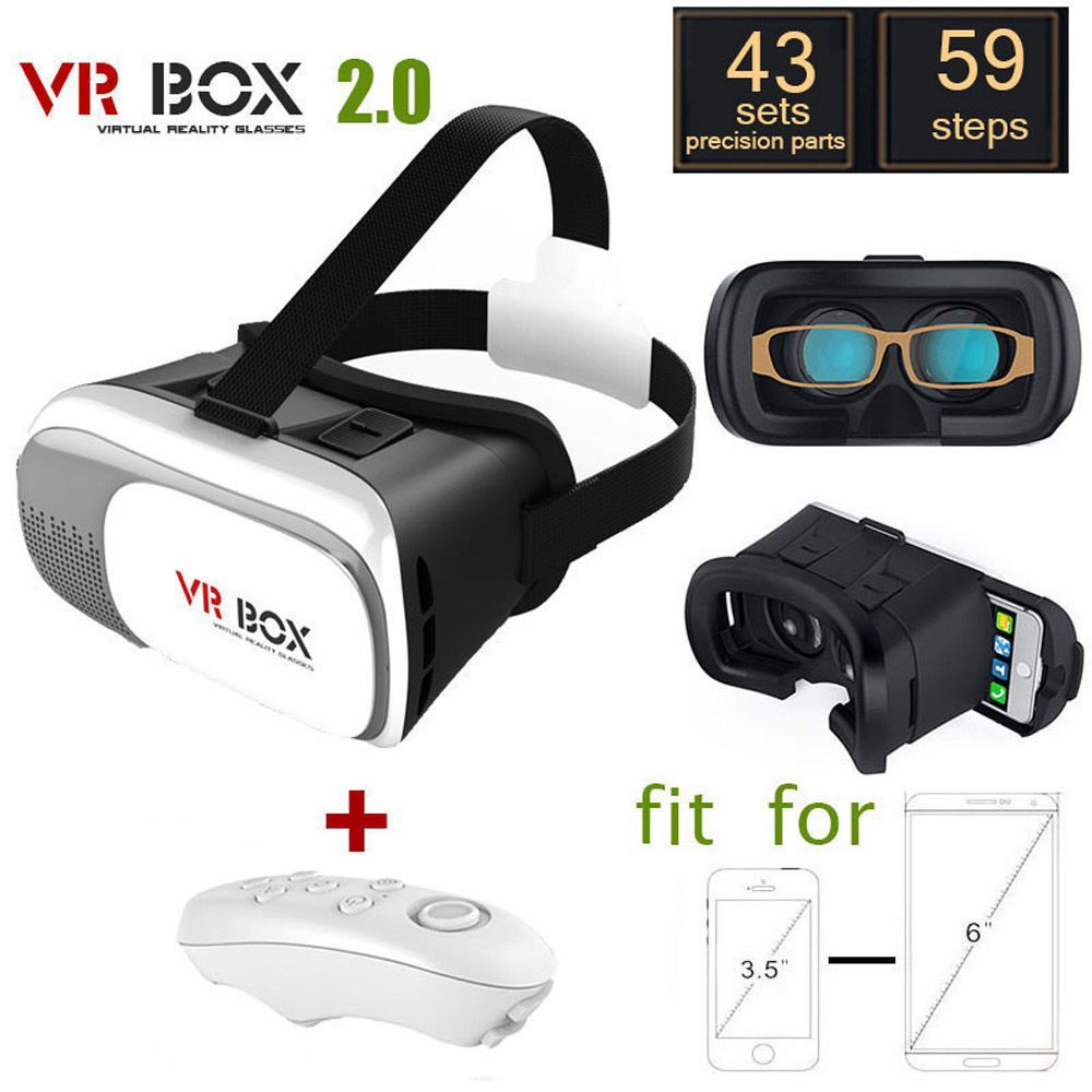 10 With Bluetooth Controller Version Virtual Reality Vr Box Ii