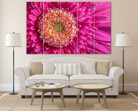 Wall art set flower canvas art flower pictures living room ...