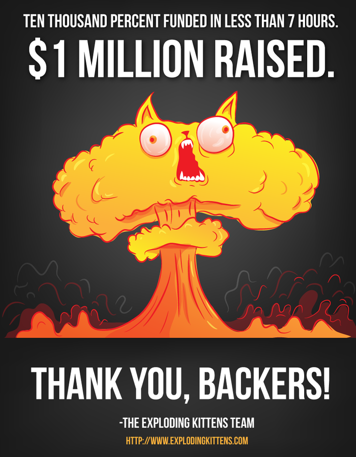 The Oatmeal S Exploding Kittens Card Game Is Raising A Bomb On