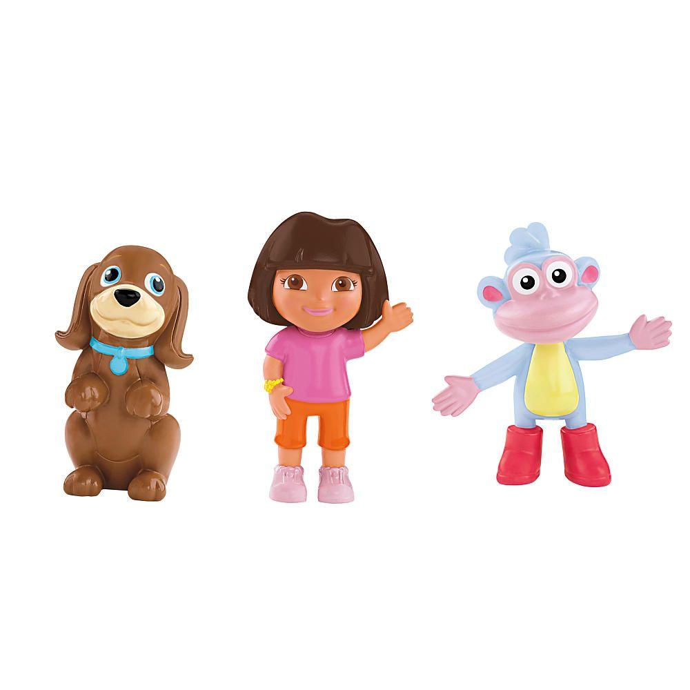 Fisher-Price Dora the Explorer Explorer Friends Figure 3-Pack - Dora ...