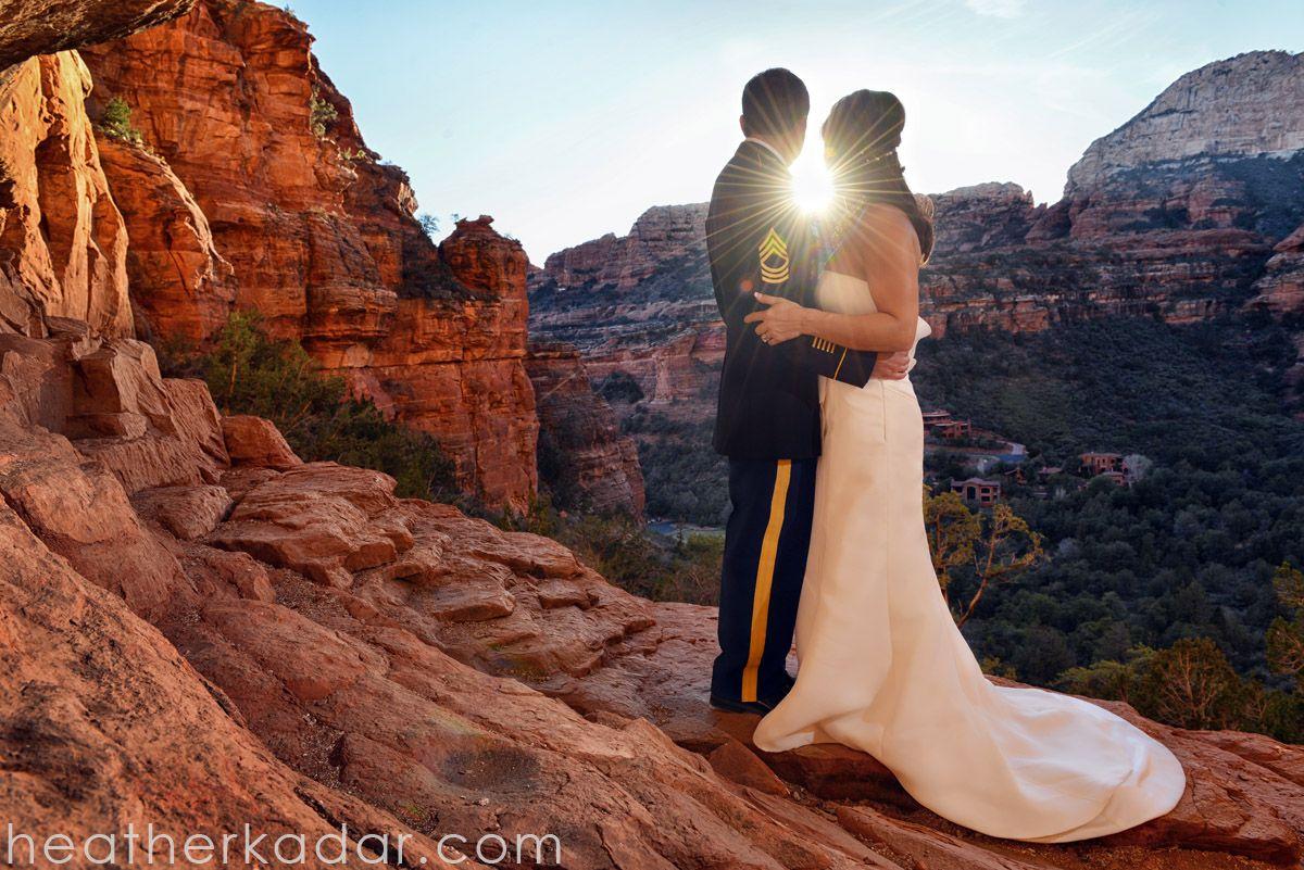 sunset wedding photo sedona arizona enchantment resort