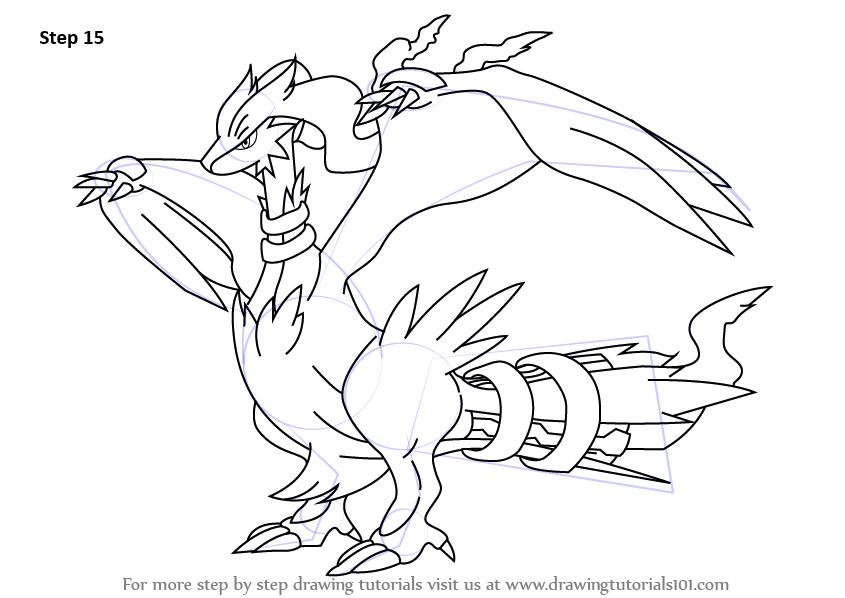 Learn How To Draw Reshiram From Pokemon Pokemon Step By Step Drawing Tutorials Pokemon Coloring Pages Dragon Coloring Page Cute Coloring Pages