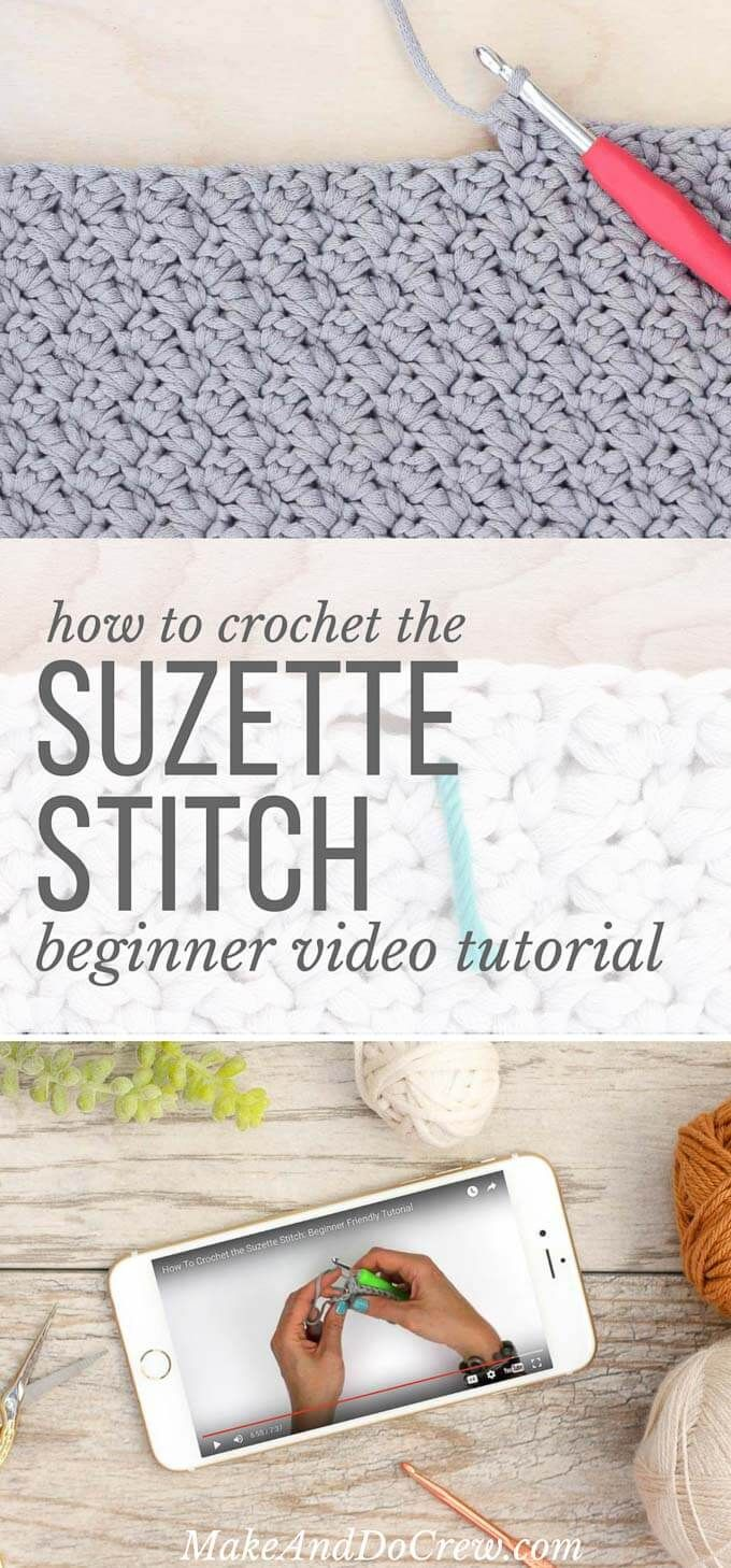 Video Tutorial: How to Crochet the Suzette Stitch | Crocheting ...