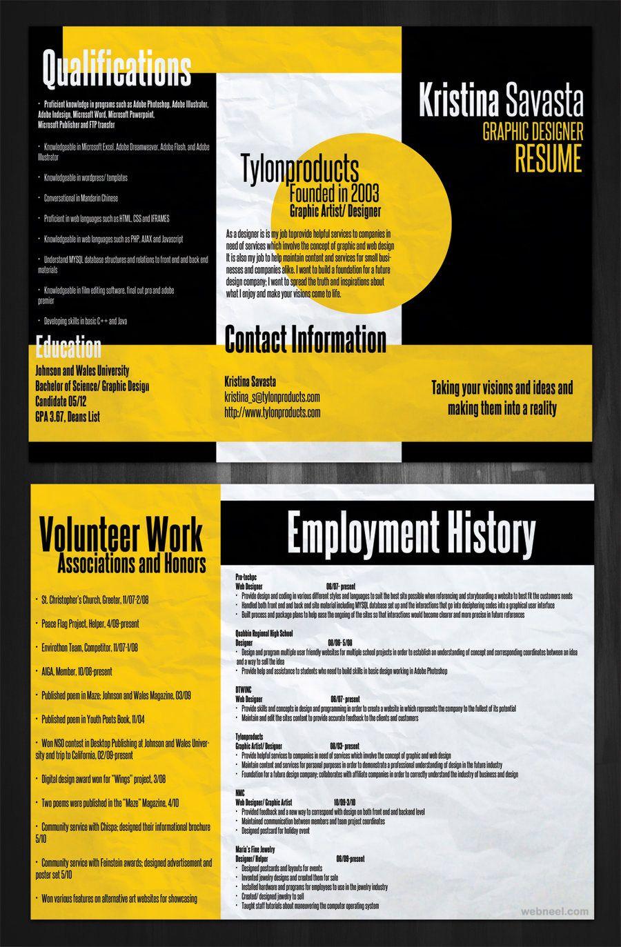 Creative Resume Designs Creative Resume Design  Swati  Pinterest