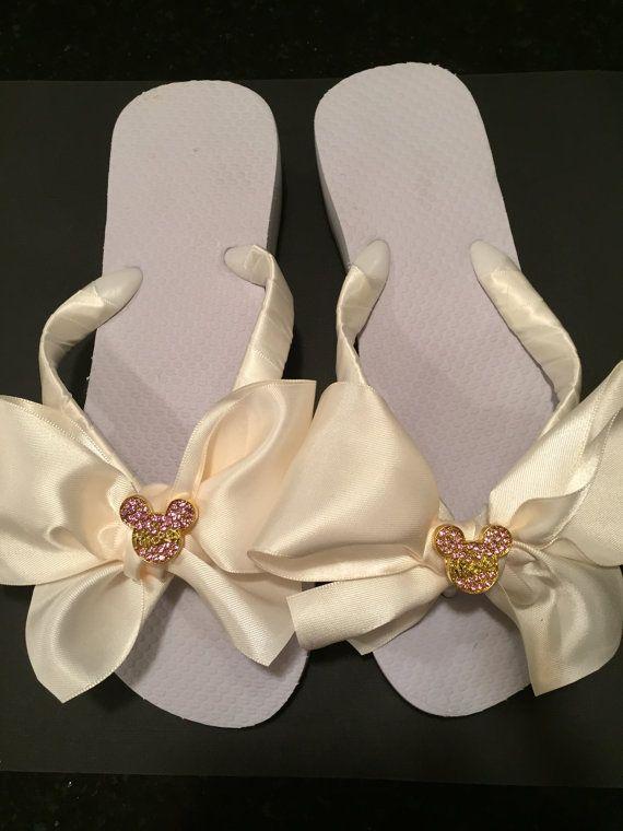 Bridal Flip Flops.Wedding Flip Flops.Bridal Wedges/Platform Flip ...