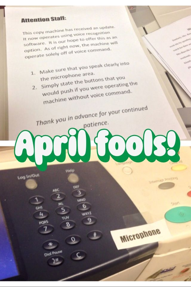 Best April Fools joke ever! Get your fellow teachers yelling and ...
