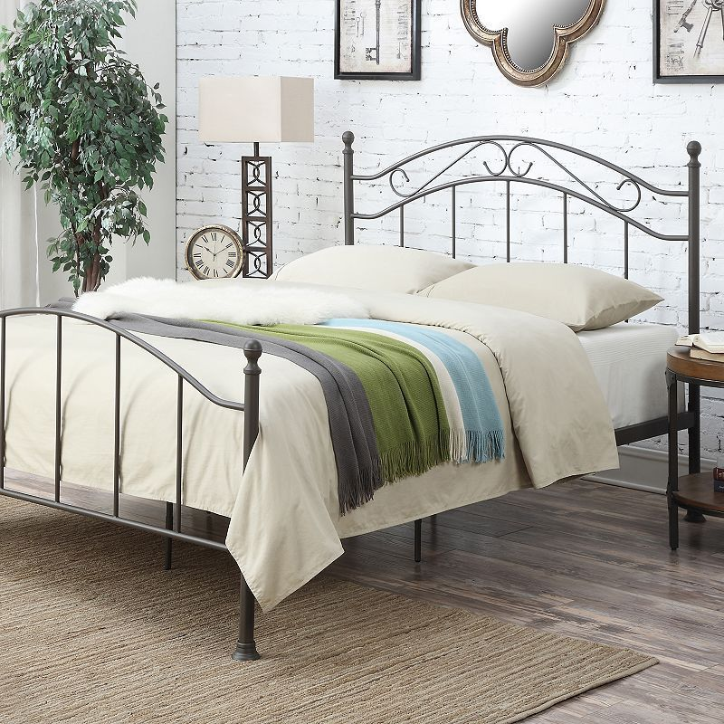 Pulaski AllNOne Scroll Queen Metal Bed in 2019 Queen