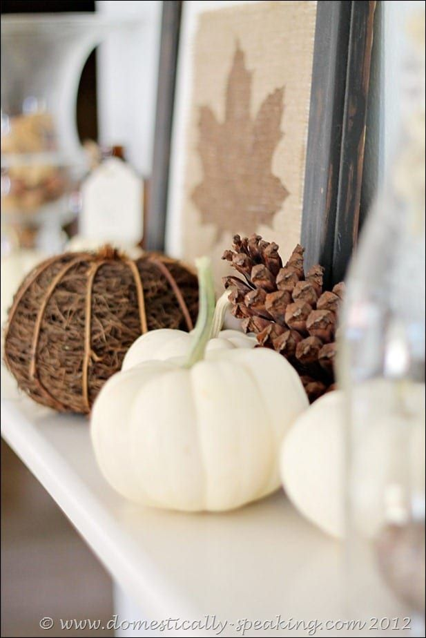 Natural Autumn Mantel Natural Autumn Mantel @ Domestically Speaking