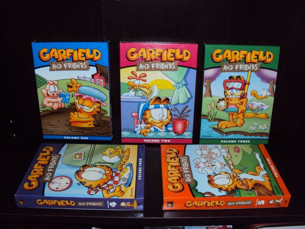 Garfield and Friends Lot Complete Series Volume 1 2 3 4 5