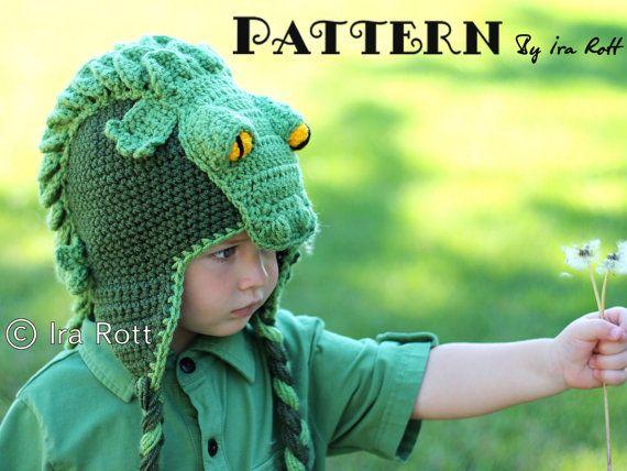 PATTERN Snappy Simon the Crocodile Hat Crochet PDF Pattern with ...