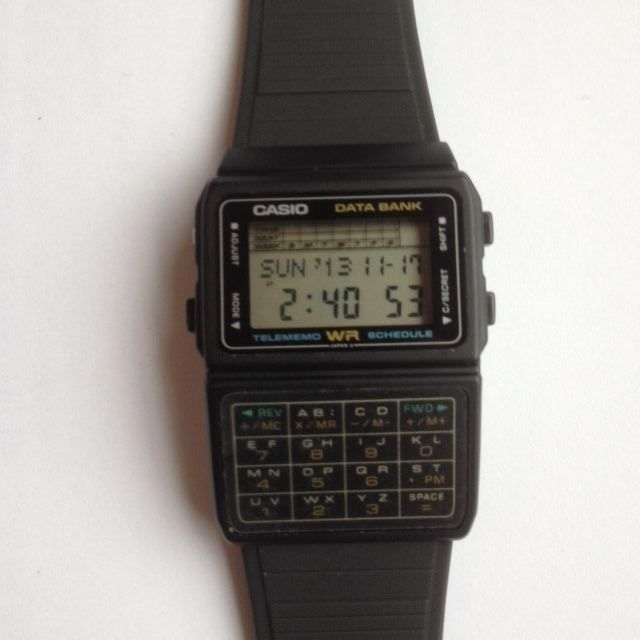 42c3198fcecf I thought I was the coolest kid ever with my Casio DataBank Calculator  watch!  1980s