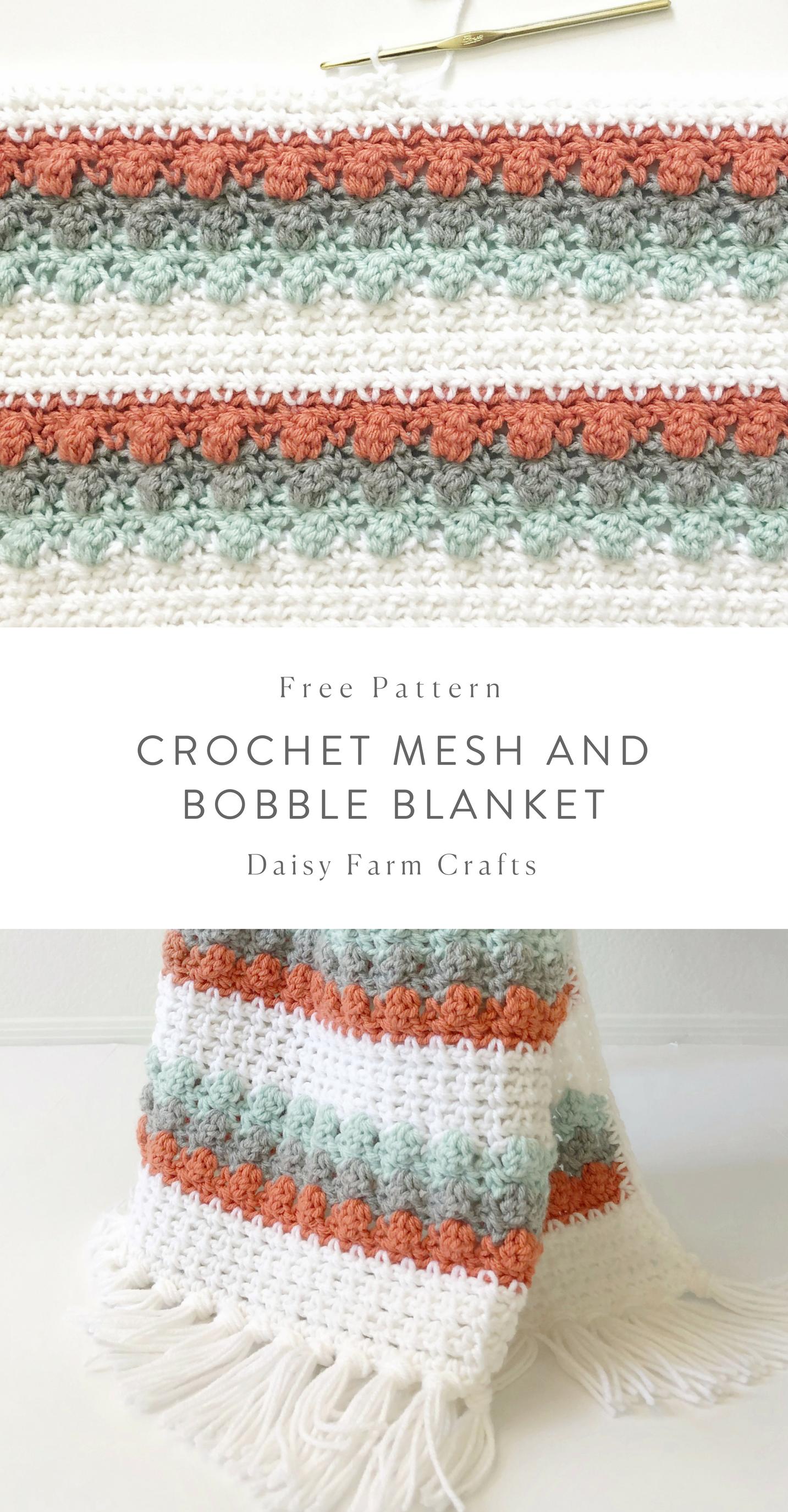 Free Pattern - Crochet Mesh and Bobble Blanket #crochet | tejidos ...
