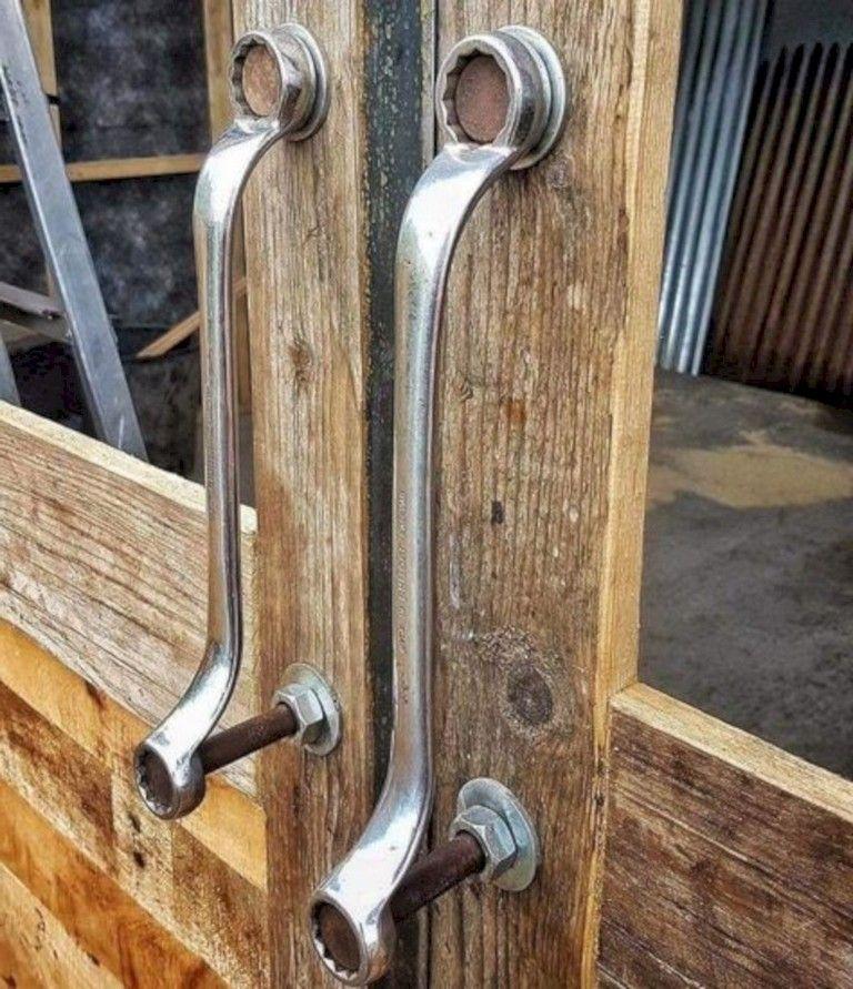 35 Astuteness Handmade Industrial Decor Ideas Page 21 Of 32 In 2020 Door Handles Diy Door Garage Door Design
