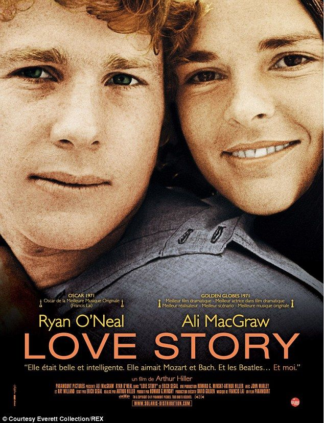 Ali MacGraw, 76, and Ryan O'Neal, 73, from 1970's Love