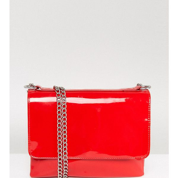 acd942324a4 Monki Vinyl Chain Bag (£24) ❤ liked on Polyvore featuring bags ...