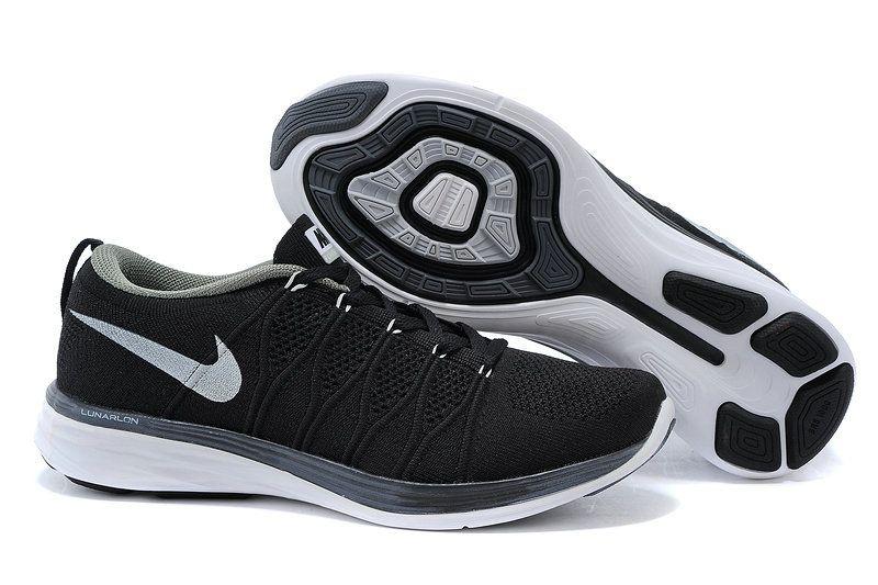 f3425101279 Men Nike Flyknit Lunar2 Lunar 2 Black White
