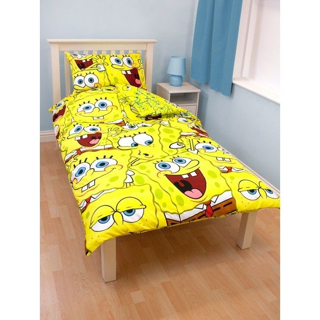Free Pnp Childrens Kids Spongebob Squarepants Reversible Duvet Cover Bed Set
