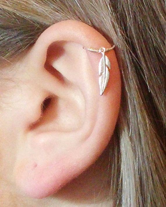 Helix earring, Cartilage earring, Helix piercing ...