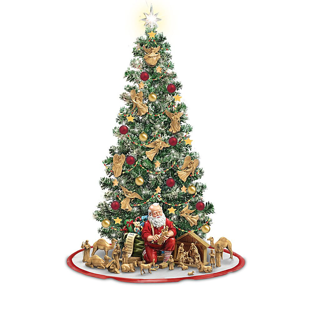 Thomas Kinkade The True Meaning Of Christmas Figurine Christmas Tree Collection Christmas Tree Decorations Tabletop Christmas Tree