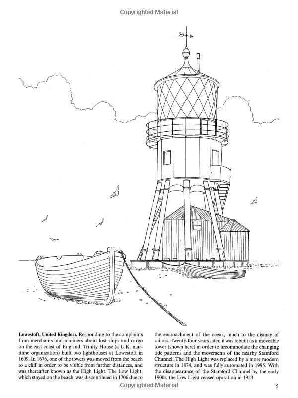 Lighthouses Of The World Dover History Coloring Book John Batchelor 9780486436852 Amazon Com Books Coloring Book Set Coloring Books Kindergarten Books