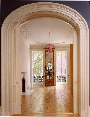 Pocket Doors The Molding And Arched Doorway Dream Home