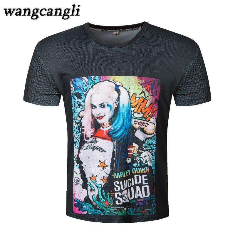 4a43ec0c4 Click to Buy << Suicide Squad T Shirt Harley Quinn T-shirt Joker ...