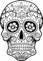image result for candy skull outline template halloween skull