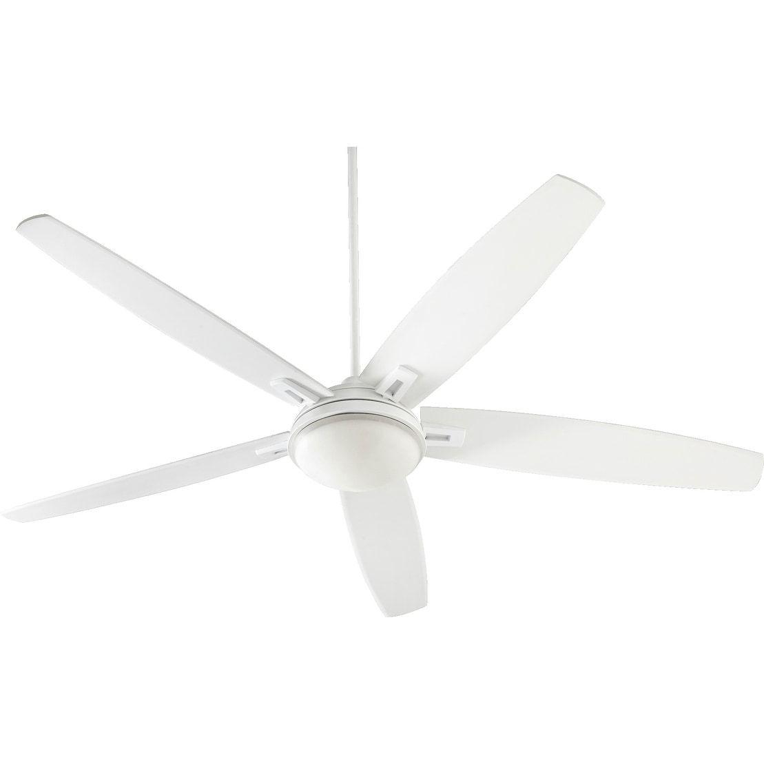 International Vector 72 Contemporary Ceiling Fan With Integraded Halogen Light Kit Studio White Blades