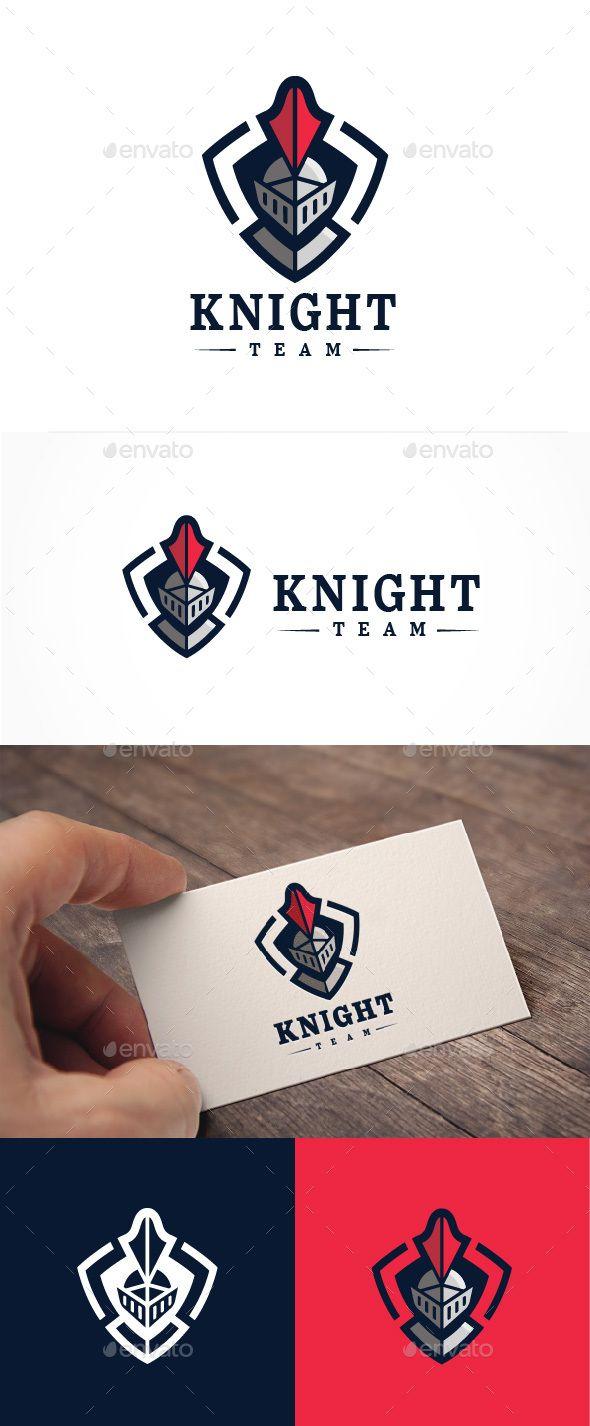 Abstract Knight Team Logo
