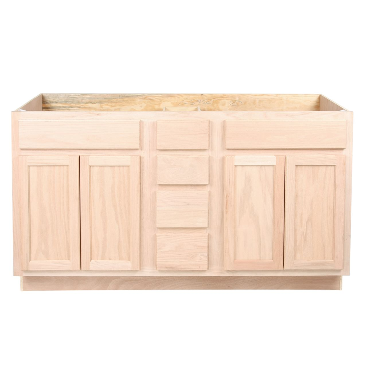 Unfinished Drawers and Sink Base Vanity Bathroom Cabinet ...